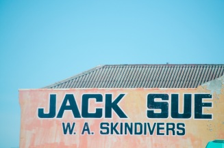World War II hero and avid scuba diver Jack Sue's dive shop in Midland.