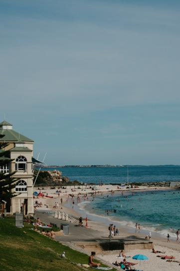 The iconic Indiana Tea House at Cottesloe Beach, on the edge of the Indian Ocean.