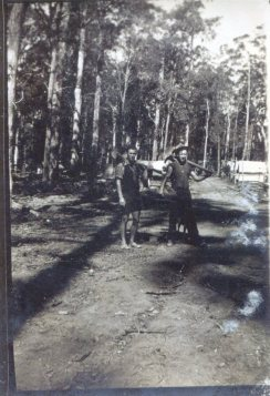 Road building crew, Dorrigo, 1930s.