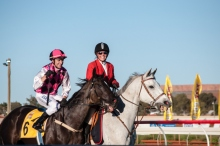 Shaun O'Donnell on Classique Ivory returns to scale after winning the 2013 Kalgoorlie Cup.