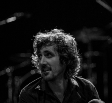 Gareth Liddiard before the start of The Drones' 'I See Seaweed' launch in Perth, March 2013.