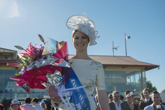 Hannans Handicap Fashions on the Field winner Andrea Hopson.