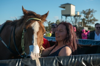 Mr Vadim and his strapper after the running of the 2013 Hannans Handicap.