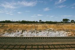 A railway cutting on the way to Wallaroo Rocks.