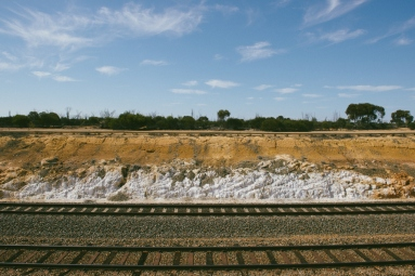 A railway cutting on the way to Wallaroo Rocks.